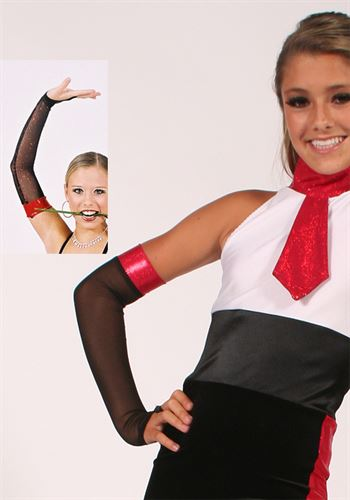#821 Banded Mitt - above elbow|Pumpers Dancewear