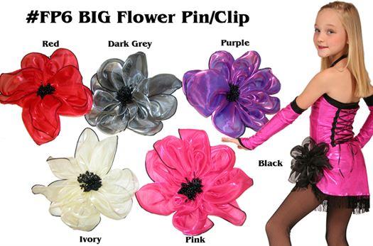 #FP6 BIG Organza Flower Pin/Clip|Pumpers Dancewear