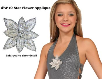 #AP10 Star Flower Applique|Pumpers Dancewear