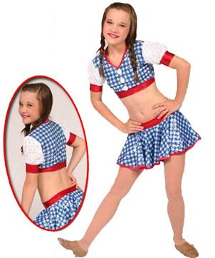 80044 - Dorothy 2pc Sequin Gingham|Pumpers Dancewear
