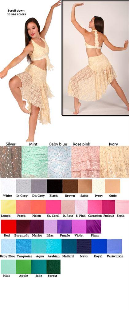 80359 Sequin Lace|Pumpers Dancewear