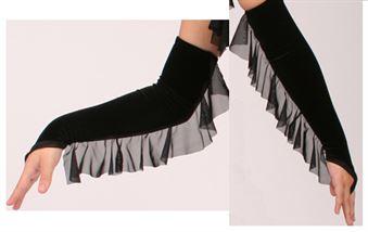 #838 sheer belled mitt|Pumpers Dancewear