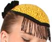 #HAT9 - Teardrop Hat with Beaded Fringe|Pumpers Dancewear
