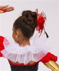 #HAT5 - Tulle & Feathers Hat with Beaded Fringe|Pumpers Dancewear