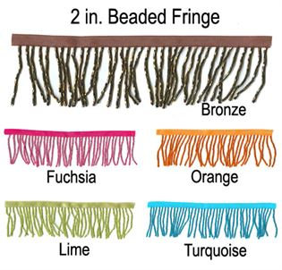 #9051 Colored 2in. Beaded  Fringe|Pumpers Dancewear